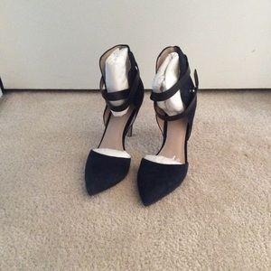 Classic navy suede heels